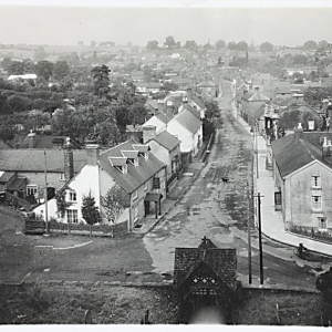 6 Bells Inn c1913. View from the church tower. Note the arrival of electricity poles.