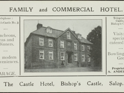 Castle Hotel Ad card c1910