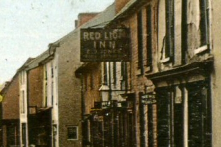 Red Lion Inn c1911 Pub sign reads Red Lion Inn E J Jones