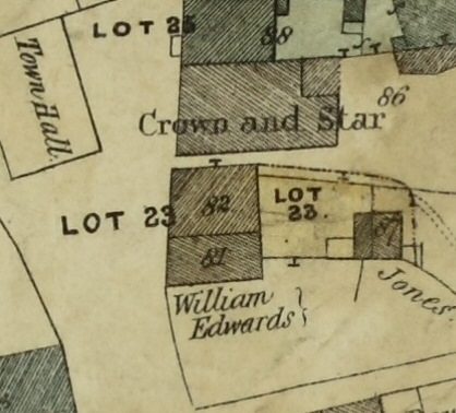 CROWN & STAR map 1848